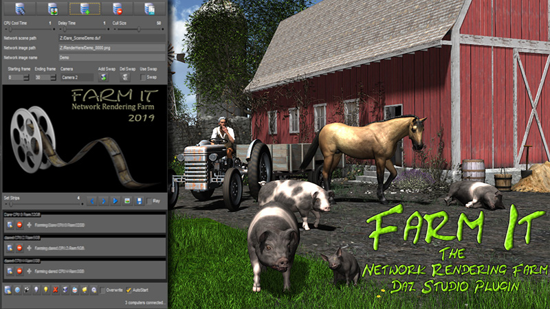 Daz Studio Plugin FarmIt network rendering farm